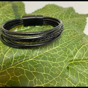 Other - Mens Braided Leather Bracelet
